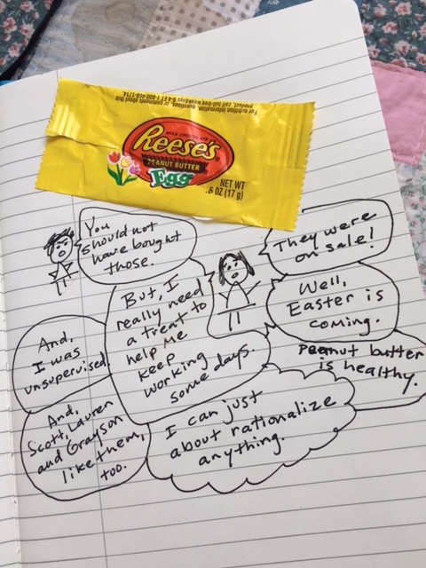 my problem with peanut butter Reeses eggs